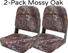 2-Pack of Mossy Oak Folding Boat Seats for Hunting Boating Bass Fishing Camo Set