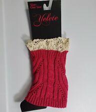 Yelete One Size Fuchsia Knit Warm Leg Warmers Boot Cuffs NWT