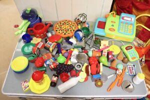 ROLE PLAY ELC CHILDREN'S PLAY KITCHEN ACCESSORIES UTENSILS FOOD CASH REGISTER