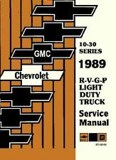 1989 Chevrolet GMC Truck Van Suburban Shop Service Repair Manual Book OEM Guide