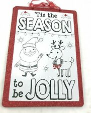 Glittery 'Tis the Season Sign wall hanging decor craft