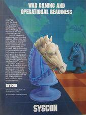 1989 PUB SYSCON WAR PLANNING INFORMATION SYSTEM CHESS ECHECS CAVALIER AD
