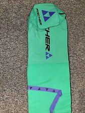 Fischer ski snowboard bag retro turquoise purple carry bag