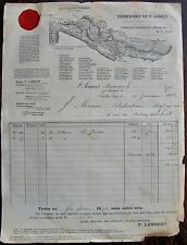 TERRITOIRE DE ST JAMES. Plantations ,1898  Rhummeries. Maison LamberT