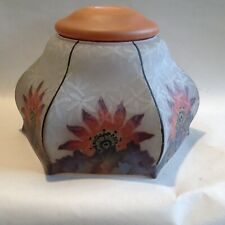 Antique, Art Deco French Glass Lamp Shade ~ Lighting