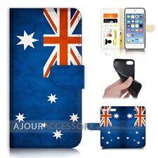 ( For iPod Touch 6 ) Wallet Flip Case Cover AJ40004 Australia Flag