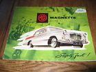 1959 MG Magnette Mark 3 car brochure, catalogue