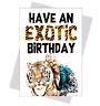 Tiger King Joe Exotic Birthday Card Funny Carole Baskin wife husband mum sister