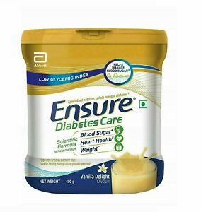 Abbott Glucerna Ensure Vanilla Powder Nutrition Powder Diabetic 400gm