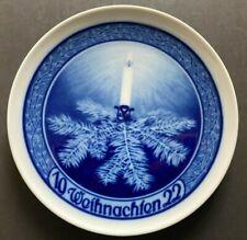 "Rare ! 1922 Rosenthal Christmas Plate ""Through Thorns to Light"" F. Nicolai 8.7"""