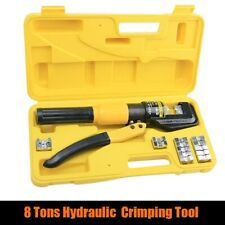 8 Ton Hydraulic Wire Cable Terminal Crimper Crimping Tool Pliers Set With 9 Dies