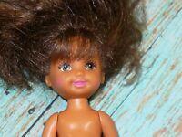 Mattel Barbie KELLY DOLL BROWN HAIR Nude Naked for OOAK or Custom Legs Move