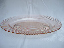 "Pink Depression Glass MacBeth Evans Petalware 13"" Oval Sandwich Platter Tray"