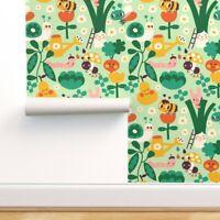 Removable Water-Activated Wallpaper Kawaii Vegetable Veggies Fruit Summer Spring