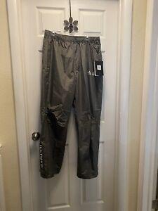 HUK Performance Fishing Men's Packable Rain Pants Charcoal XXL NWT