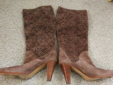 French Connection ladies knee high leather boots size 5/38