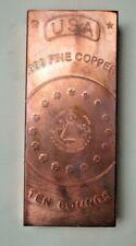 10 Pound .999 Fine Copper Bar