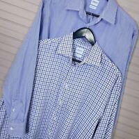 Armani Collezioni Modern Fit Dress Shirt Lot of 2: L/S Cotton Men's Size 41/16 R