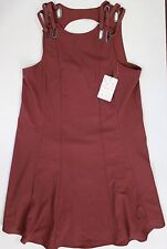Free People Brownish Red Baby Love Trapeze Dress Small NWT