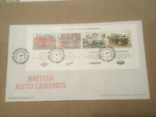GB 2013 British Auto Legends Miniature Sheet RM UA FDC Longbridge Birmingham SHS