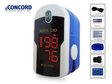 Fingertip Pulse Oximeter with case, lanyard and batteries-The Concord Sapphire
