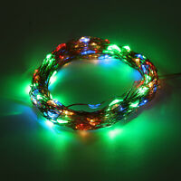 AU_20-200LED Solar / Battery Powered Outdoor Xmas LED Fairy Lights String Party