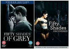 50 FIFTY SHADES OF GREY PART 1 &2 DVD UNCOVERED Unseen Edition Extended NEW R2