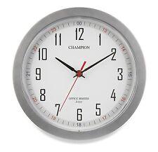 CHAMPION Bold 10 inch Diameter Office Master Quartz Wall Clock (SILVER)