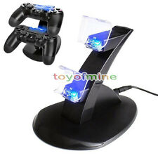PlayStation PS4 Dual Controller LED Charger Dock Station USB Fast Charging