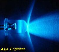 Lot of 50 X 3mm Blue LED 10000mcd Free Resistors