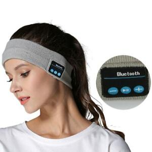 Wireless Bluetooth Headband Sports Sweatband Music Phone Jogging Yoga Elastic