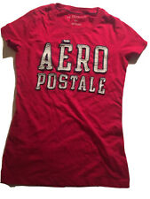 Juniors AEROPOSTALE Shirt SMALL Shortsleeve Top Casual BRIGHT PINK