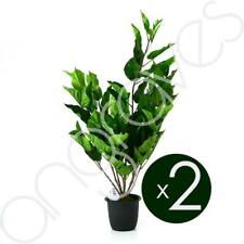 Set of 2 Green Artificial Potted Tree Plants Conservatory Kitchen Home