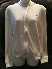 Tommy Hilfiger vintage womens White Lightweight Hooded Zippered Jacket X Large