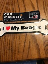"Car Magnets Who Rescued Who? "" I ❤️ My Beagle"", Ships N 24h"