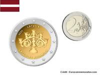 2 Euros Commémorative Lettonie Latgales Keramika 2020 UNC