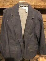 Liz Claiborne Women's Size 2X Denim Blue Jean Jacket Lightweight Cotton/Poly