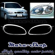 Chrome Headlight Lamp Cover Trim for 96~ Chevrolet Lanos/Sens