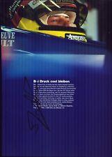 Jacques Villeneuve Renault Formel 1 Original Autogramm Autograph Foto (O-2254+