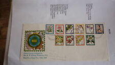 1969 NIUE STAMP ISSUE FDC, FLOWERS  SET OF 10 STAMPS