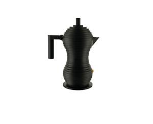 New Alessi Pulcina espresso coffee maker - 3 cups - full black Alessi Designed