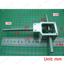 DIY 90° Right Angle Gearbox Speed Reducer Transmission Ratio 1:1 Shaft 10mm