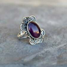 Sterling Silver 925 Ring Natural Amethyst