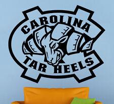 Carolina Tar Heels Vinyl Decal Sticker Sport Home Art Decor NCAA Football Emblem