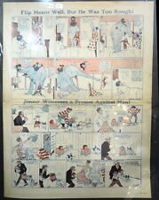 LITTLE NEMO SUNDAY Color Strip 9/1/1912 WINSOR McCAY Flip Meant Well, Too Rough
