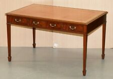 RRP £3300 KENNEDY FURNITURE HARRODS MAHOGANY BROWN LEATHER DESK WRITING TABLE