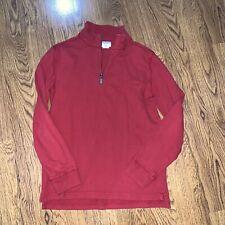 J Crew Crewcuts Boys Red Long Sleeve Half Zip 14 Pullover