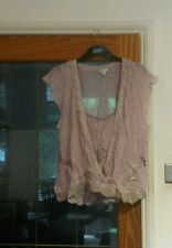 NEXT pale lilac stretchy crinkle lace and beaded vest top and cover 20
