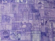 """Tailor Made """"lilac vintage patches"""" - NEU! Stoff,Baumwolle,nähen"""