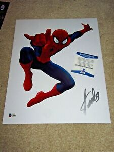 STAN LEE SPIDER-MAN SIGNED 11X14 PHOTO MARVEL AVENGERS BECKETT BAS AUTOGRAPHED